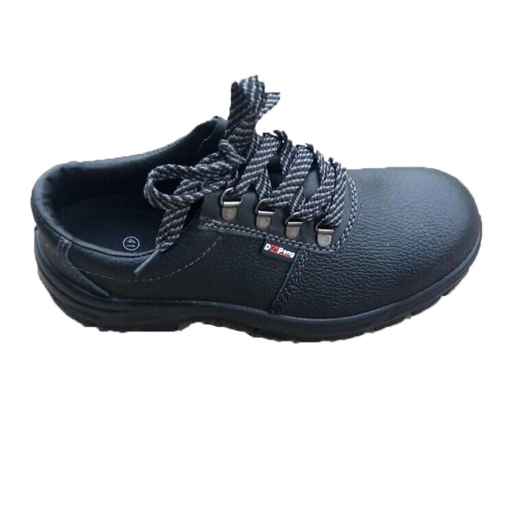 New Full grain leather Steel Toe Black Safety Shoes