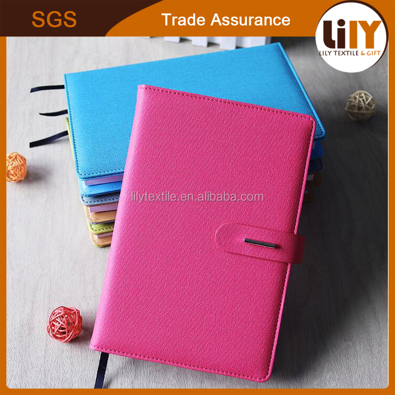 High Quality A5 PU Leather Notebook Notepad With Magnet Buckle For Custom