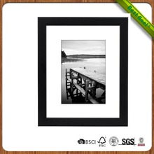 Hot selling 8x10 black wooden picture photo frame for display picture