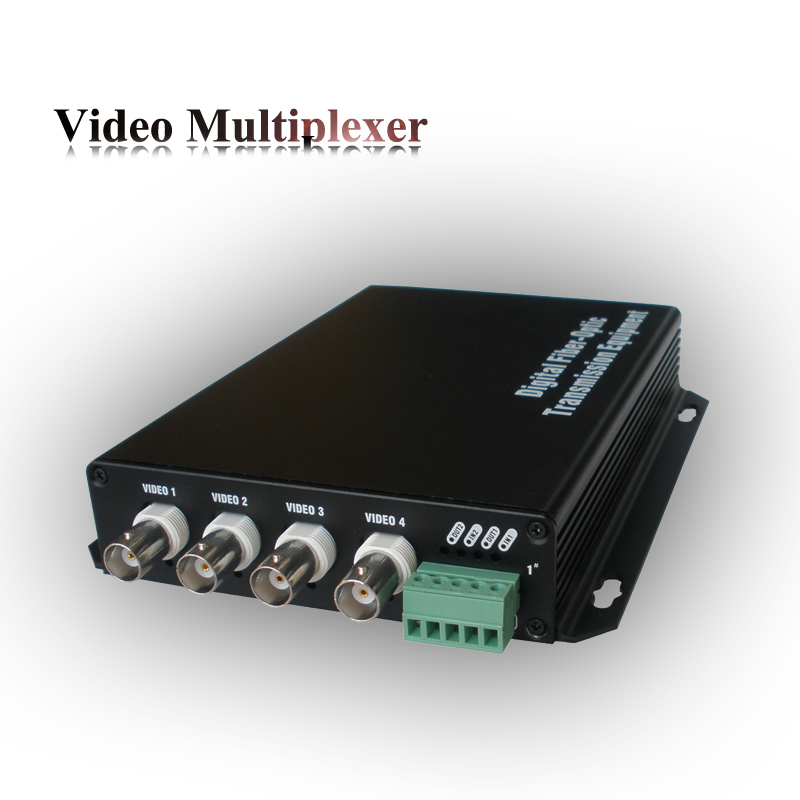 Single mode 1310nm 4 channel cctv quad multiplexer with 422 data