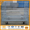 Alibaba metal wire mesh container, metal storage cage with wheels used