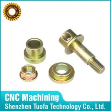 Custom CNC machining service brass copper joint fitting parts for vehicle components