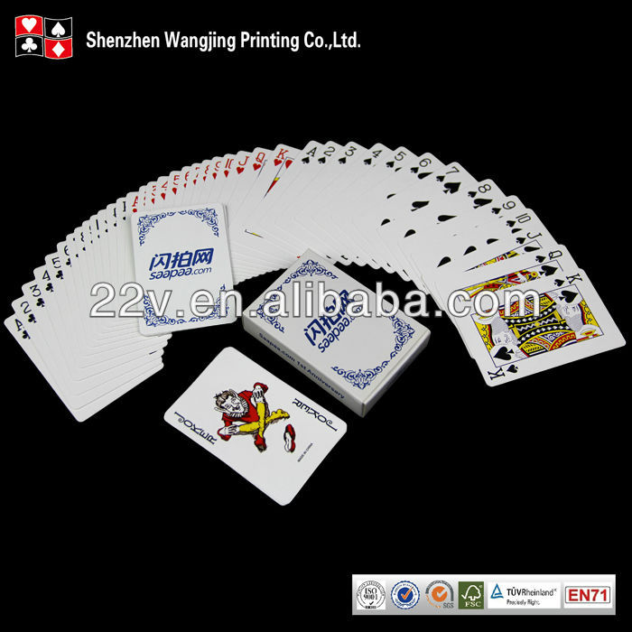 Custom Paper Poker Card Game With Logo