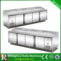 Stainless steel pizza wortable refrigerator chiller, Salad bar Cooler