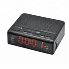 New version  snooze wireless alarm clock speaker LED alarm clock radio