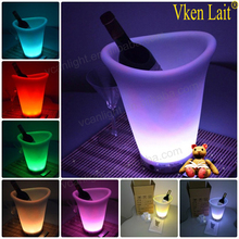 table wine ice bucket holder with plastic material