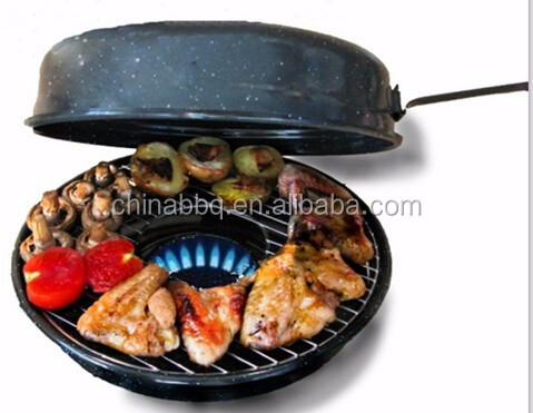 Gas BBQ grill cooking Pan
