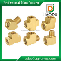 Taizhou factory competitive price 1/2'' 1'' 2'' forged npt threaded customized brass pipe fittings drawings