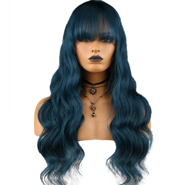100% Virgin Brazilian <strong>Human</strong> Hair Loose Wave Natural Color Lace Front Wig <strong>Human</strong>