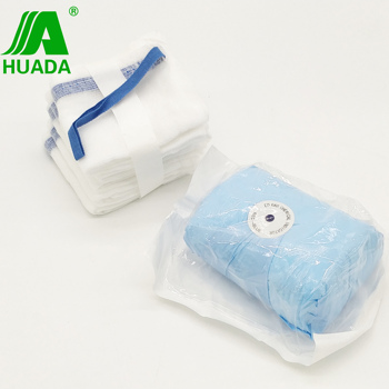 Surgical gauze xray threads nonwashed abdominal sponges