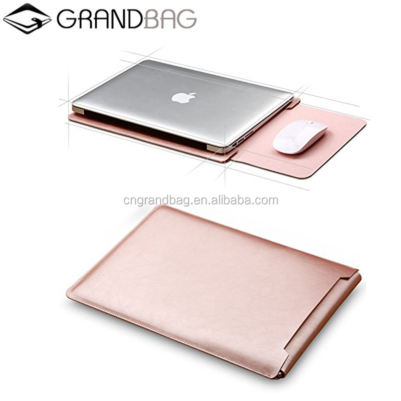 "Genuine Leather Sleeve Cover Latop case for 13"" MacBook Air/ Pro with Retina Display Rose gold"