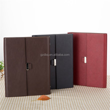 pu leather 6 ring binder planner/personal journal notebook/loose leaf or spiral organizer