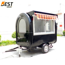Hot sale China factory mobile antique food cart refrigerator