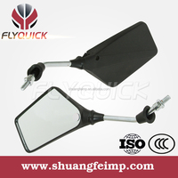 ZF001-58 FLYQUICK High quality Motorcycle Plastic Rearview Side Mirror Black Pp Back Mirror for HONDA ST70 C70