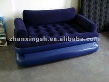 Hot design durable flocked pvc inflatable lounge chair in living room