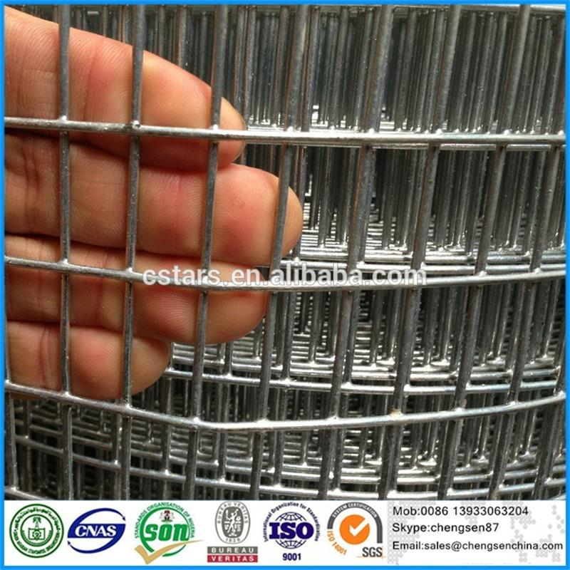 PVC coated 1x1 welded wire mesh