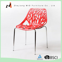 Metal Frame Modern Plastic Garden Leisure Cafe Chairs