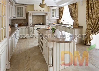 high quality white glazed solid wood kitchen <strong>cabinet</strong>