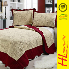 HLHT welcome ODM high quality cotton embroidery quilt
