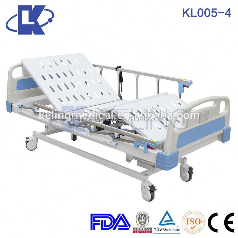 Abs electric adjustable bed five function hospital icu bed sturdy used nursing home beds