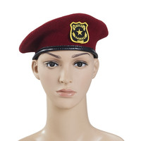 Factory Safety Security Wool Beret Embroidery