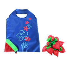 wholesales funny strawberry shape folding shopping bags cheap shopping bags
