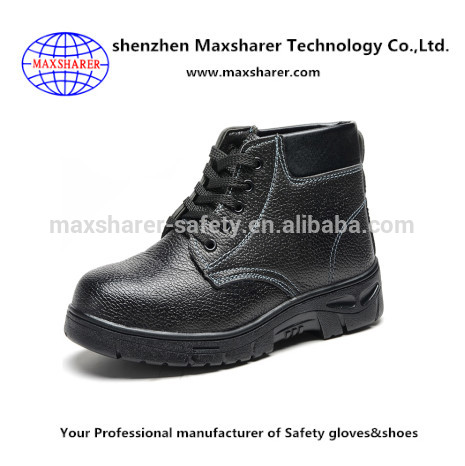 China industrial black steel safety shoes light weight ranger safety shoes