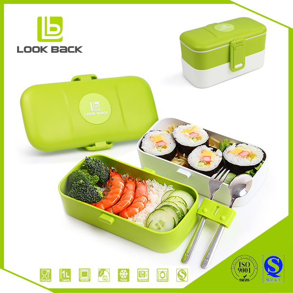 2017 best selling leakproof divided plastic lunch container