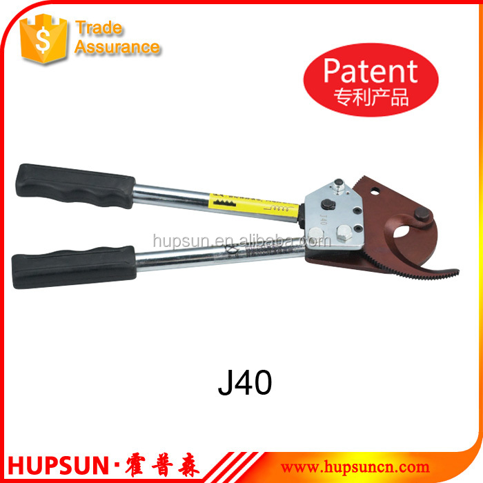 J40 armored CU/AL cable 30mm hand ratcheting armored cable cutter