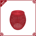 Handmade unique design excellent quality indoor rattan plastic stool price creative woven bar stools for best sale