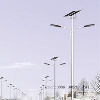 6m Pole LED Solar Powered Street Light with high efficiency chip