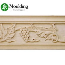 Guangdong customized decorative wood carved cornice moulding