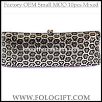 YYPDZJ45 Designer Full Print Metal Frame Colorful Crystal Evening Clutch Purse Bag with metal chain