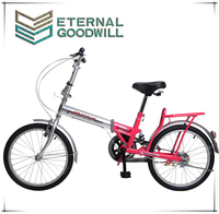 "2015 hot sale20"" inchsingle Suspespeed folding bike/bike for sale/ single speed bike China OEM Two Wheel City Pit Bike For Girls"