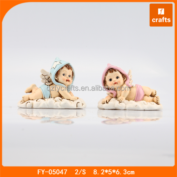 Unique wholesale resin sleeping baby angel figurines