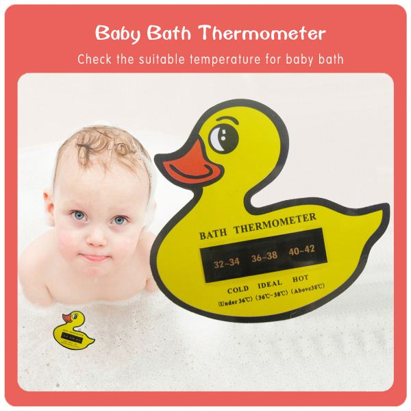 Yellow Duck Shaped digital baby bath thermometer