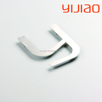Stainless steel silver brushed metal alphabet letters