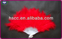 Colorful Party props Turkey feather fans Feather Craft Performaning Feather Fans Handmade Wholesale price