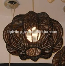 2012 Rattan pendant lamp H1912/lighting pendant flower/bamboo pendant lamp
