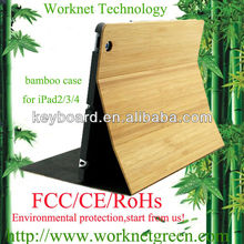 High quality bamboo case for ipad 2/3/4