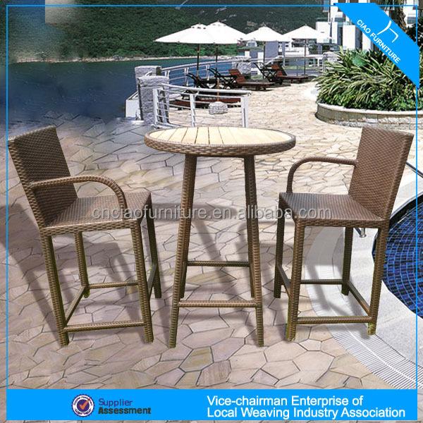 Een 2014 nieuwe design bar sets houten bar tafel en rieten stoel cf783 tuin sets product id - Houten tafel en stoel ...