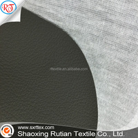 Dark Black Embossed Hole Pattern 100% PVC Automotive Upholstery Leather