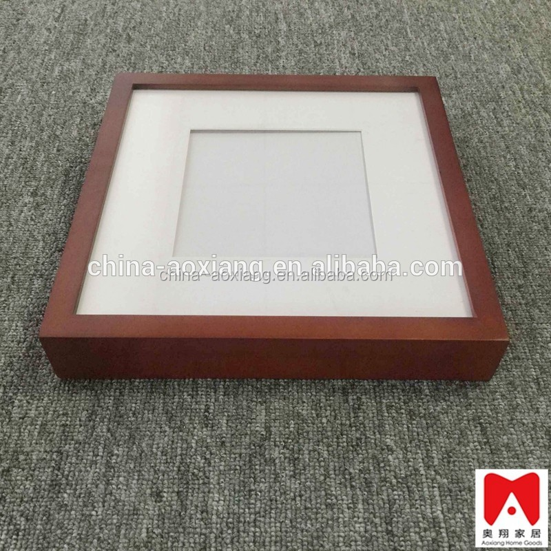 China manufacture direct exporter, Unique MDF brown top load shadow box wall hanging photo frames