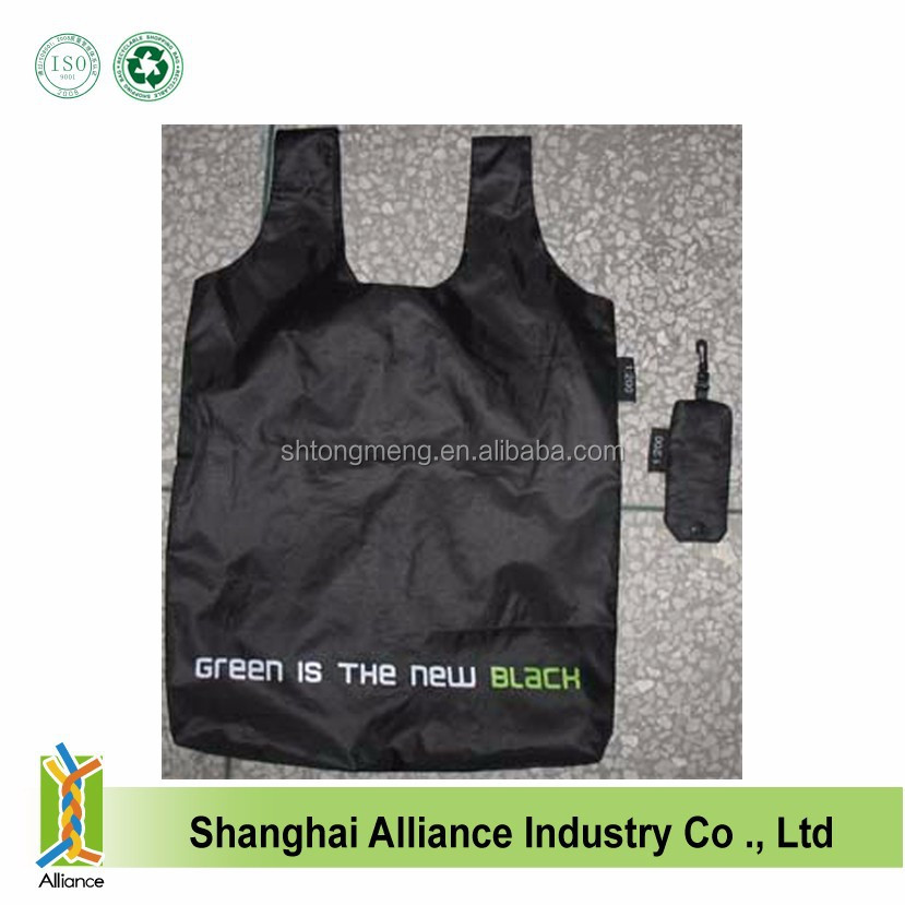 Eco Promotional 190T Polyester Foldable T-Shirt Bag with Snap Pouch