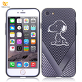 Anti-heat wholesale cell phone with holes puppy pattern case for apple iphone 7/8