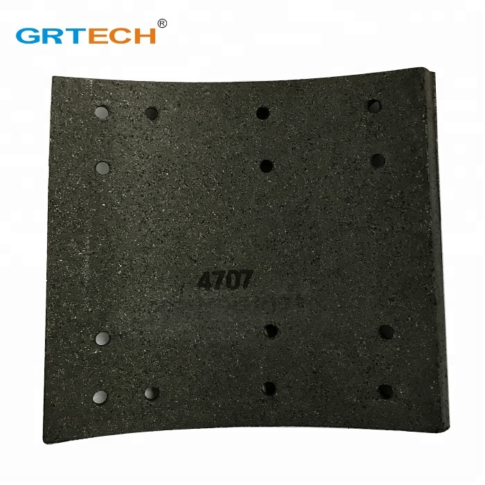 4707 <strong>Friction</strong> Material Truck Brake Lining with Hole
