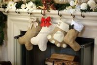 Wholesale monogram Christmas Pet Stockings