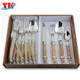 High quality 24pcs Laguiole cutlery set wiht wood handle