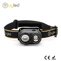 Rechargeable led headlamps dual switch fishing lights outdoor rainproof lantern