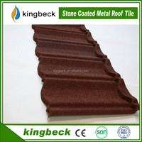 Corrosion Resistance Kingbeck Stone Coated Colorful Steel Roof Tile